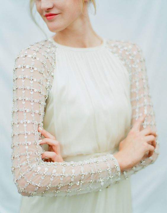 such heavily embellished sleeves will make your modern dress shine