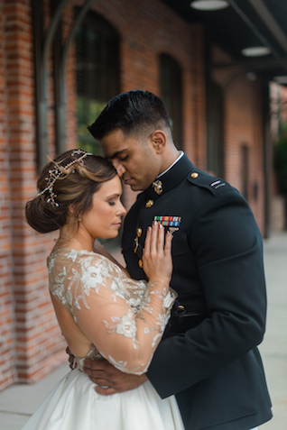 Marines wedding