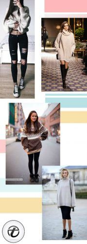What-to-Wear-with-Oversized-Sweaters-179x500 Oversized Styles- 30 Ideas on How to Wear Oversized Clothes
