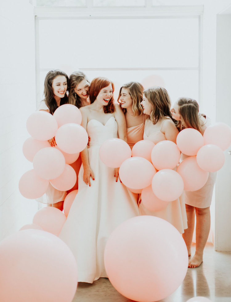 This gorgeous wedding was fun, party styled and with touches of peachy pink and red