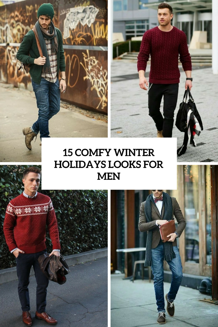 comfy winter holidays looks for men cover