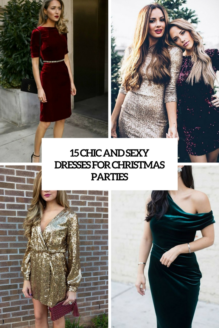 chic and sexy dresses for christmas parties cover