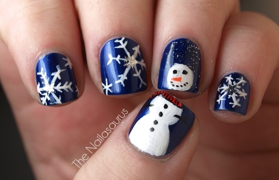 winter-nailss Winter Nail Art Ideas - 80 Best Nail Designs This Winter