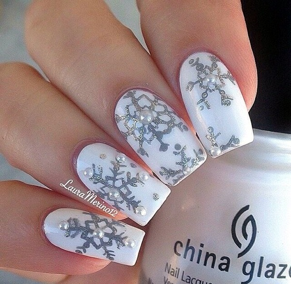 Winter-Nails-Designs-2015-15 Winter Nail Art Ideas - 80 Best Nail Designs This Winter