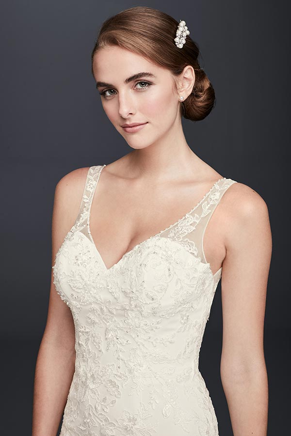 4 Wedding Dress Trends We're Fully Embracing with David's Bridal #weddingdresses #ballgown #weddingdresstrends