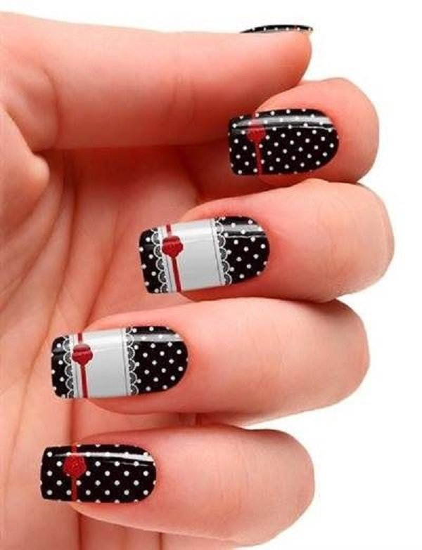 dots-and-lace-nail-art Winter Nail Art Ideas - 80 Best Nail Designs This Winter
