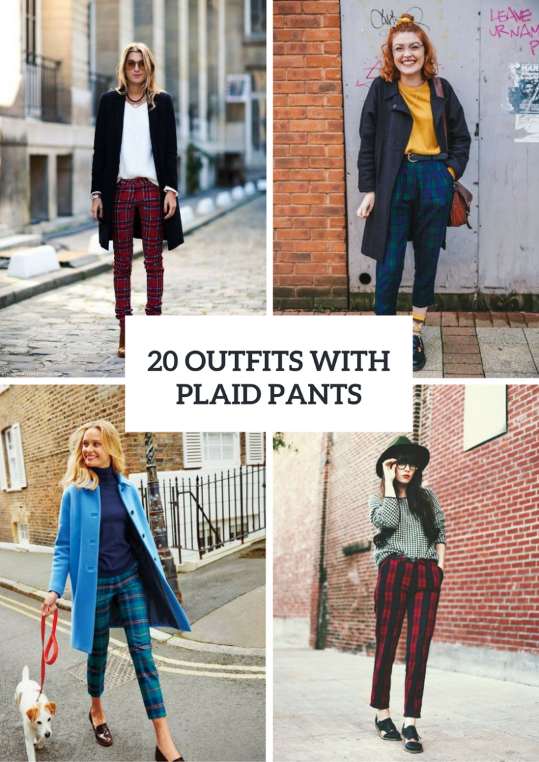 Comfy Outfits With Plaid Pants For Women