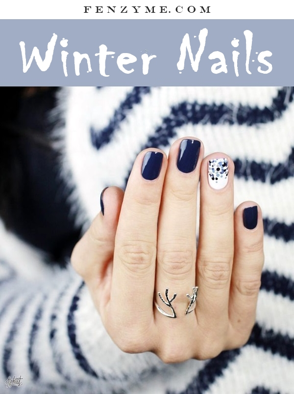 Winter-Nails-Designs-2015-1.2 Winter Nail Art Ideas - 80 Best Nail Designs This Winter