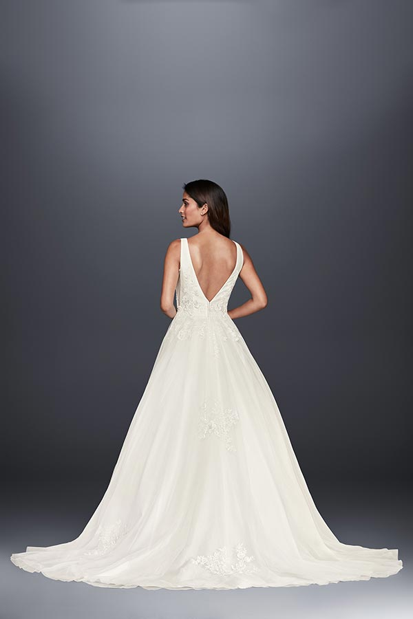 4 Wedding Dress Trends We're Fully Embracing with David's Bridal #weddingdresses #weddingdressstyles #weddinggowntrends