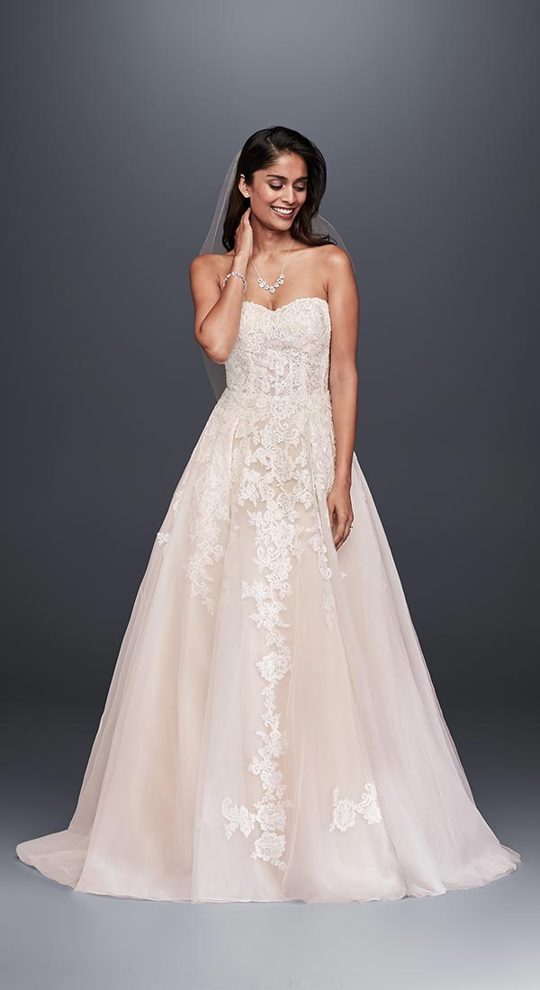 4 Wedding Dress Trends We're Fully Embracing with David's Bridal #weddingdresses #affordableweddingdresses