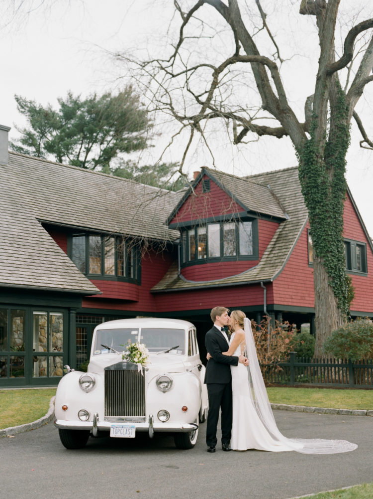 This winter wonderland wedding was inspired by Ralph Lauren's iconic style and was perfectly elegant