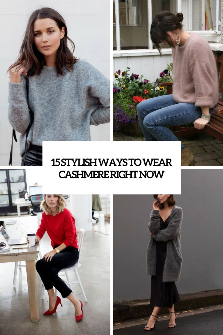 stylish ways to wear cashmere right now cover
