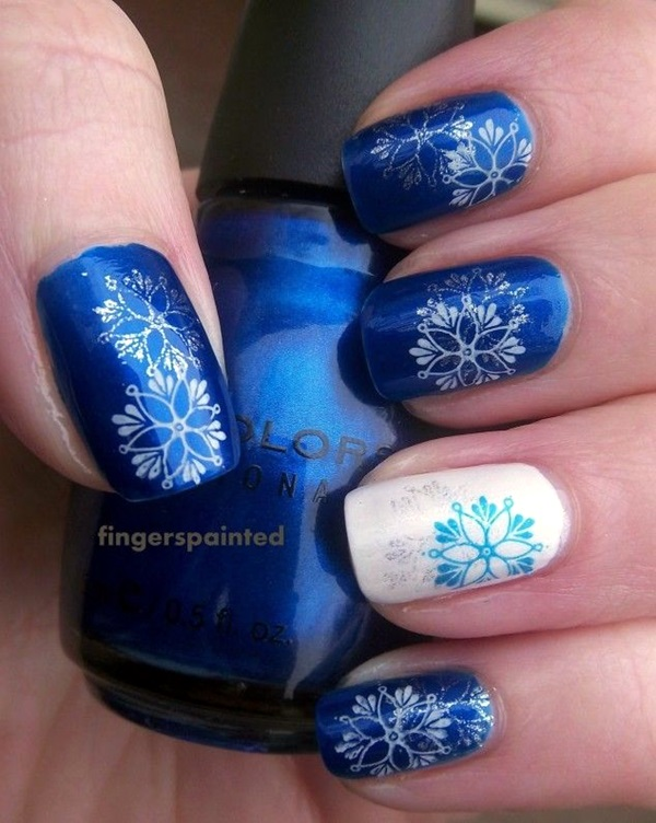 Winter-Nails-Designs-2015-23 Winter Nail Art Ideas - 80 Best Nail Designs This Winter