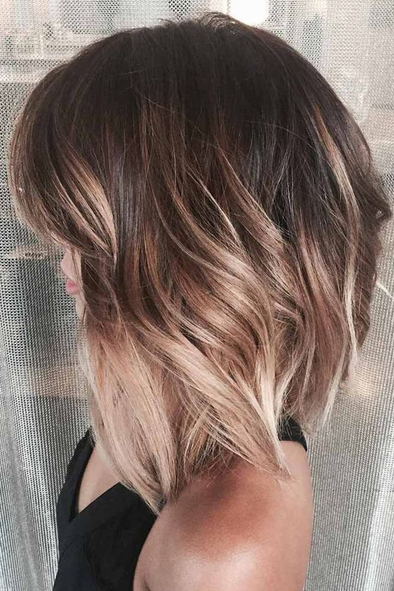 dark brown and plum hair with bronde ombre for a dimensional look