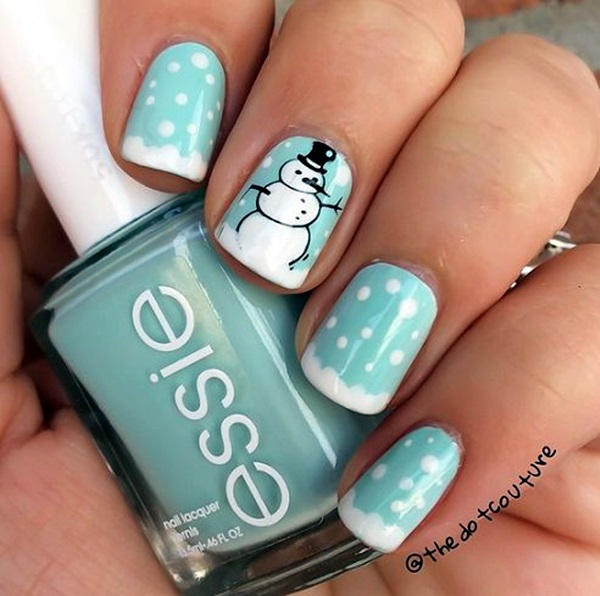 Winter-Nails-Designs-2015-39 Winter Nail Art Ideas - 80 Best Nail Designs This Winter
