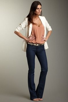 Boot-Cut-Jeans-for-Work Wearing Business Casual Jeans-21 Ways to Wear Jeans at Work