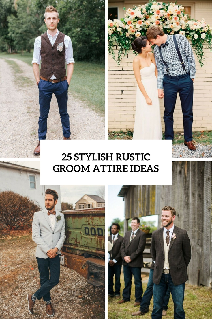 stylish rustic groom attire ideas cover