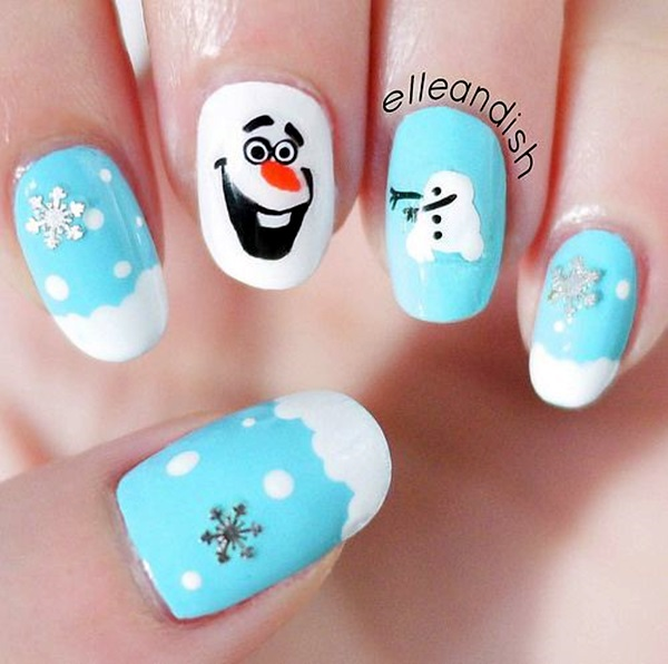Winter-Nails-Designs-2015-61 Winter Nail Art Ideas - 80 Best Nail Designs This Winter