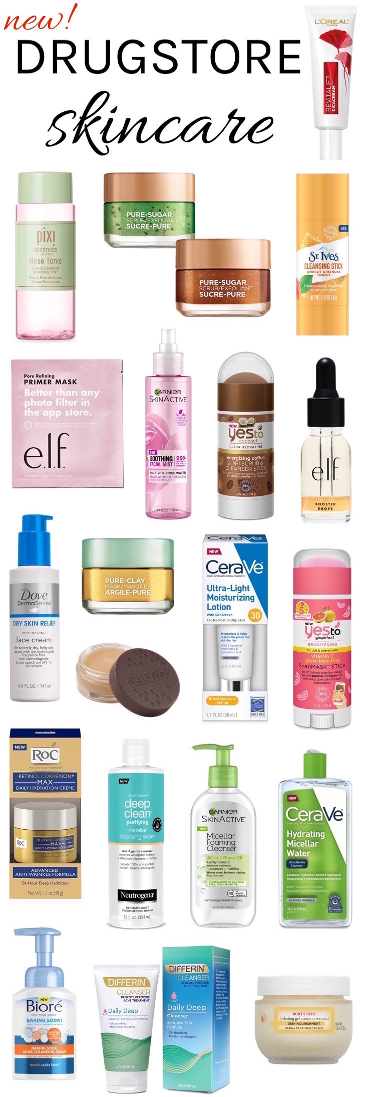 Finding yourself spent after the holidays? Save now with these NEW drugstore skincare products that you can snag for under $  20 each!