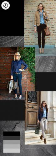 Business-Casual-Look-with-Denim-Tops-179x500 Wearing Business Casual Jeans-21 Ways to Wear Jeans at Work