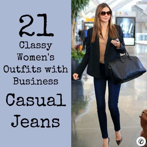Outfits-with-Business-Casual-Jeans-1-500x500 Wearing Business Casual Jeans-21 Ways to Wear Jeans at Work
