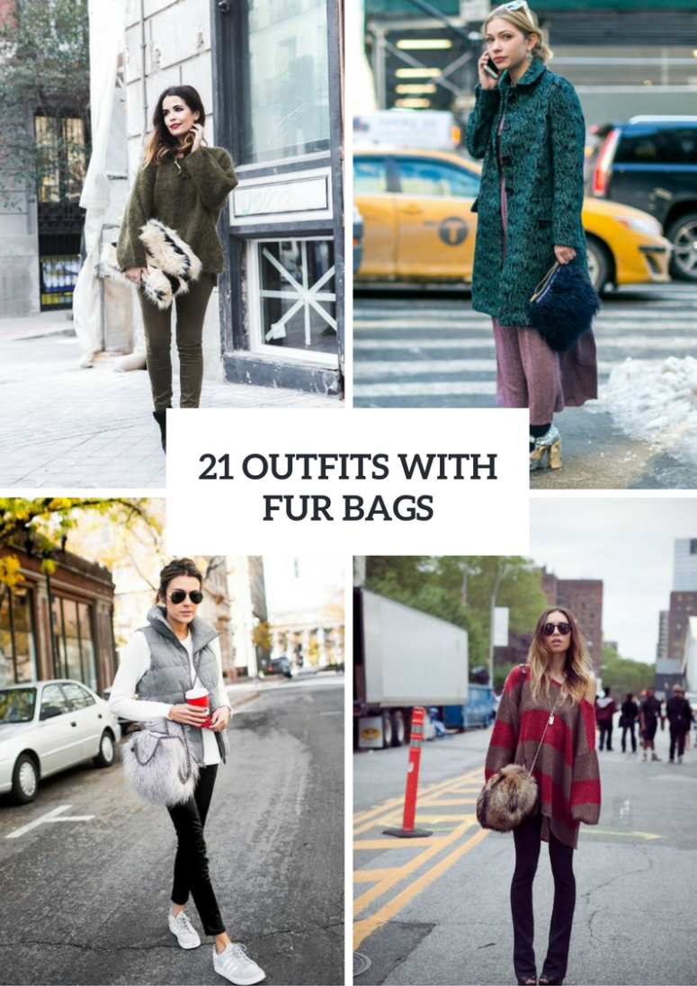 Gorgeous Outfits With Fur Bags