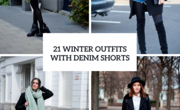 Winter Outfits With Denim Shorts To Repeat