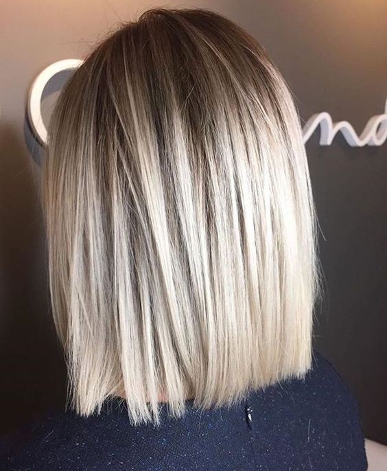 straight blonde balayage bob gets a dimension easily