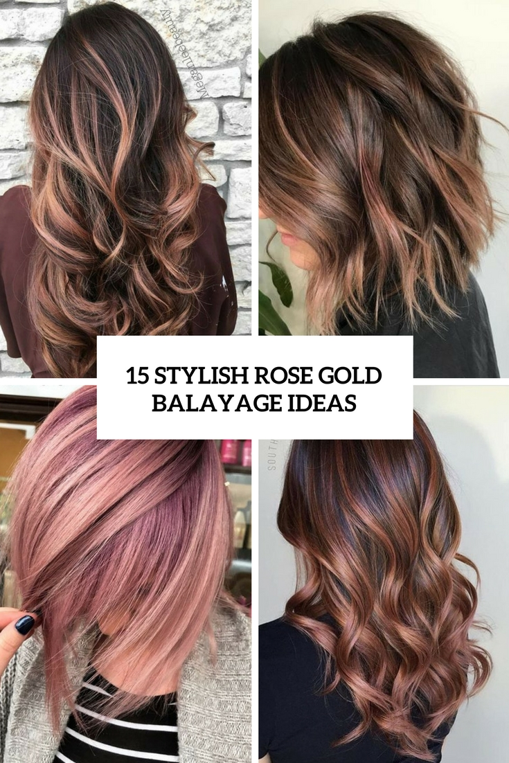stylish rose gold balayage ideas cover