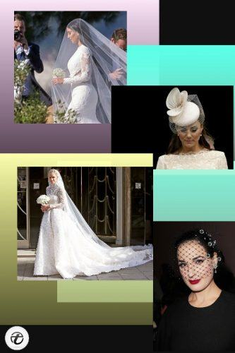 Celebrity-Inspired-Veils-333x500 Bridal Birdcage Veil- 20 Best Ideas on How to Wear Cage Veil