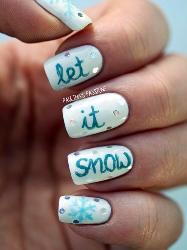 Winter-Nails-Designs-2015-25 Winter Nail Art Ideas - 80 Best Nail Designs This Winter