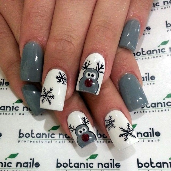 Winter-Nails-Designs-2015-29 Winter Nail Art Ideas - 80 Best Nail Designs This Winter