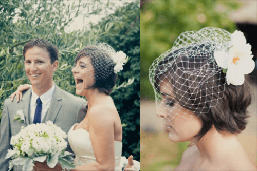 How-to-Wear-a-Cage-Veil-with-Short-Hair-500x333 Bridal Birdcage Veil- 20 Best Ideas on How to Wear Cage Veil