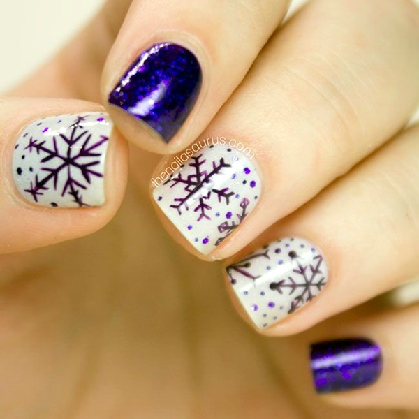 Winter-Nails-Designs-2015-10 Winter Nail Art Ideas - 80 Best Nail Designs This Winter