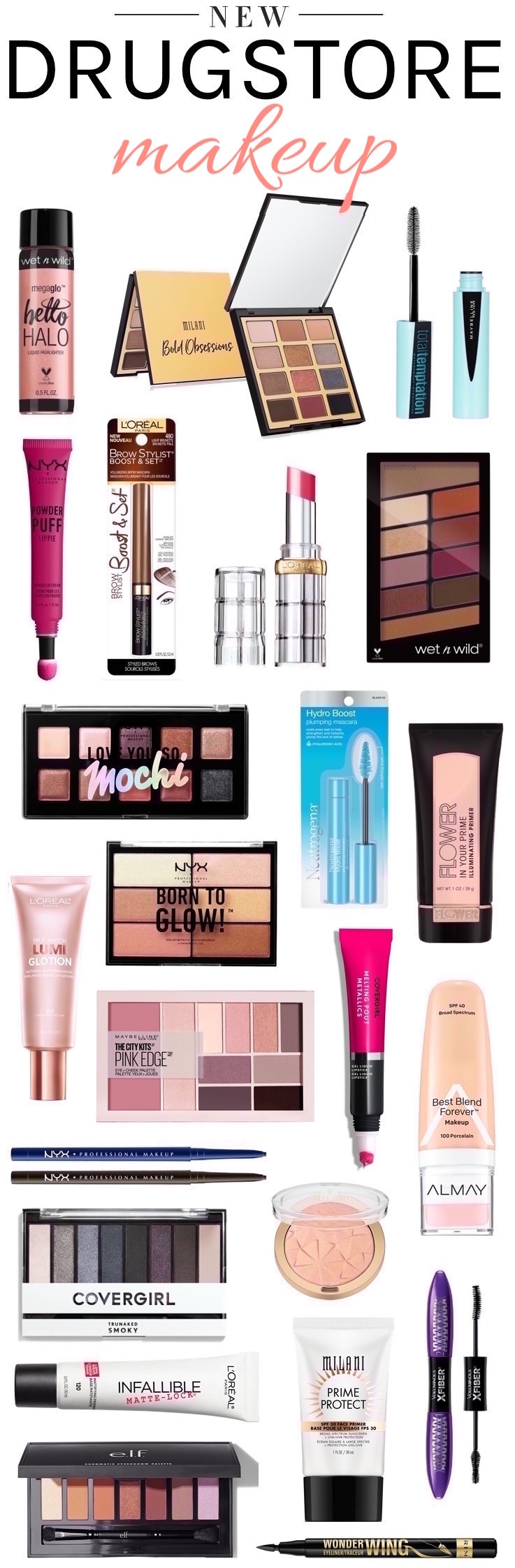 Want the scoop on the new drugstore makeup to hit the shelves? Here are 32 brand new beauty products to put on your radar this month! So many goodies!
