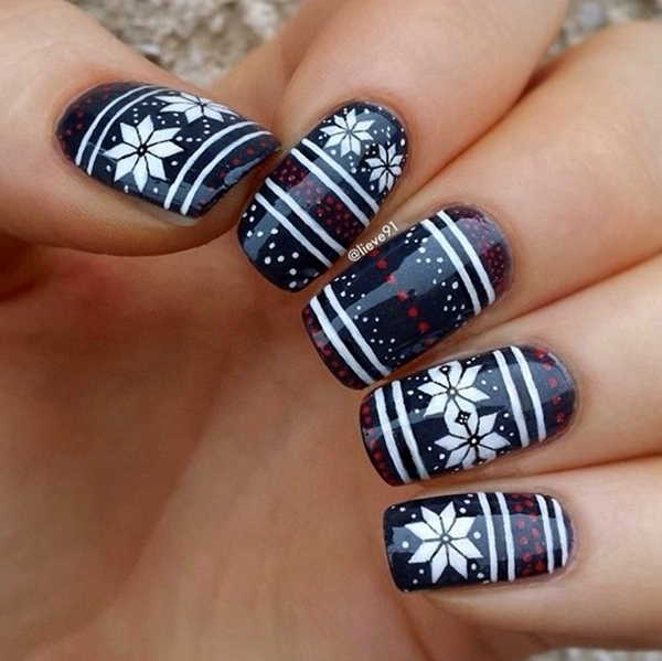 Winter-Nails-Designs-2015-7 Winter Nail Art Ideas - 80 Best Nail Designs This Winter