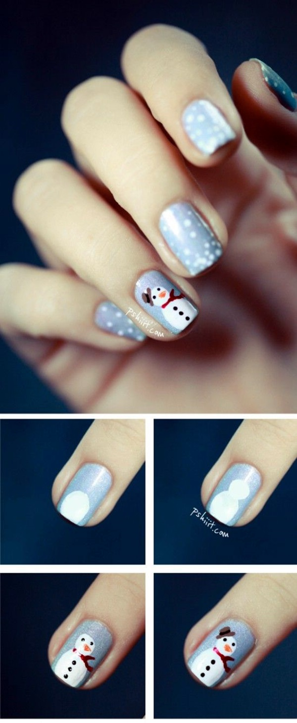 Winter-Nails-Designs-2015-31 Winter Nail Art Ideas - 80 Best Nail Designs This Winter
