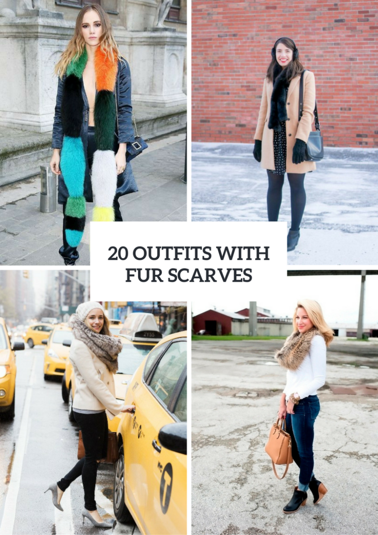 Comfy Outfits With Fur Scarves