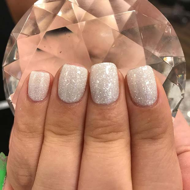 Shimmering Nails for Simple Yet Eye-Catching Nail Designs