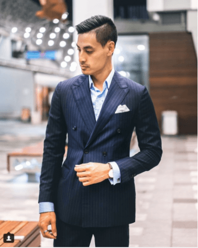 DB-Pinstriped-Suits-400x500 25 Ideas on How to Wear Double-Breasted Suits for Men