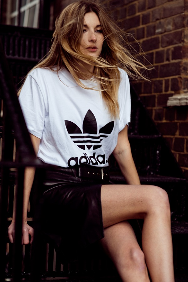 Sweet-T-shirt-Outfits-for-girls-12 45+ Most Popular Adidas Outfits on Tumblr for Girls