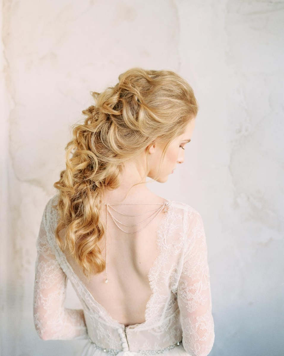 loose braid wedding hairstyle