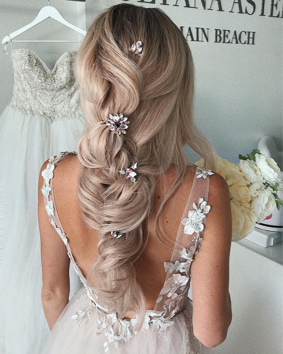 loose braid bridal look