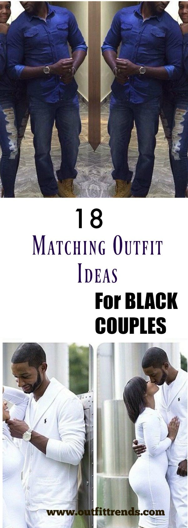 Trisquare 18 Cute Matching Outfits For Black Couples