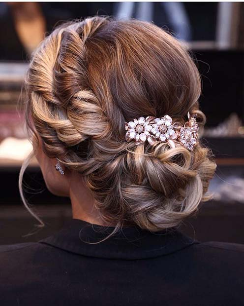 Updo-with-Cute-Flowers