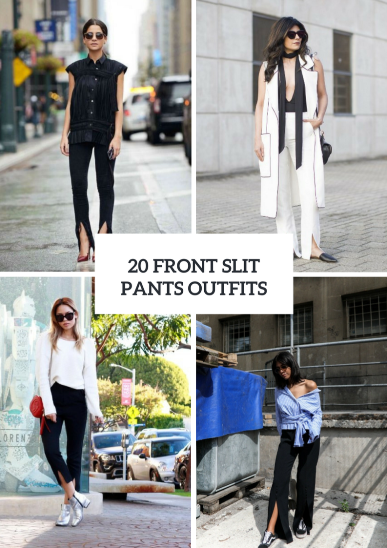 Trendy Outfits With Front Slit Pants