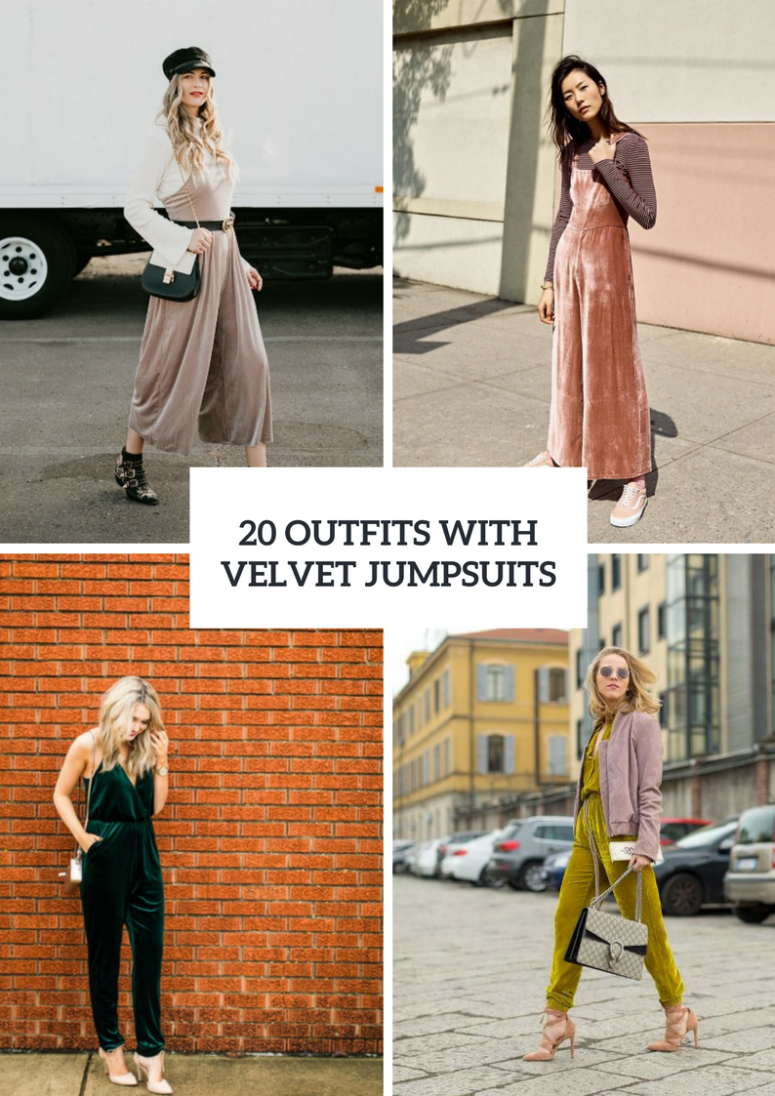 Spring Outfits With Velvet Jumpsuits