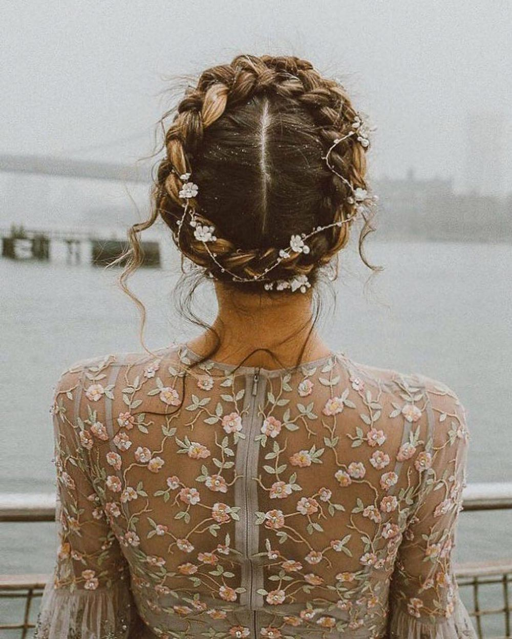 dutch braid wedding hairstyle