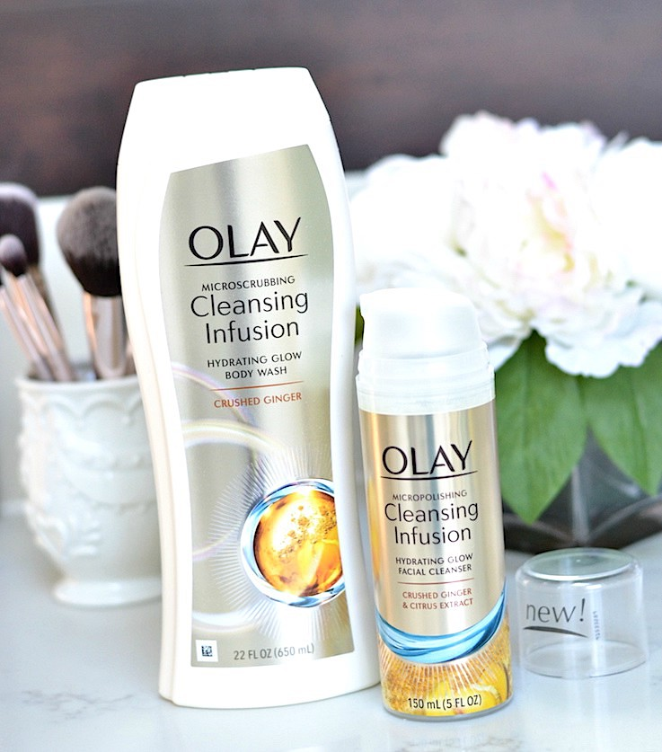 Olay Cleansing Infusion Crushed Ginger facial cleanser and body wash
