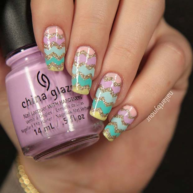 Glitter-Easter-Egg-Chevron-Design